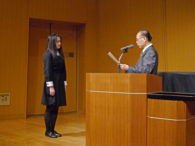 東邦音楽大学附属 東邦高等学校2年・近藤さくらさんが「第70回全日本学生音楽コンクール」全国大会バイオリン部門 高校の部 第1位を受賞。