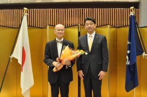 【ご報告】白井英治先生(本学特任准教授)が、小田原市民功労賞を受賞されました。